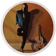 Chris Whitley Round Beach Towel by Paul Meijering