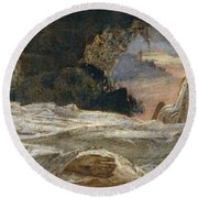 Christ And Mary Magdalene Round Beach Towel