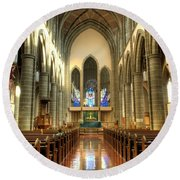 Christ Church Cathedral Victoria British Columbia Round Beach Towel