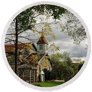 Christ Church Round Beach Towel