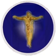 Christ Caramel And Honey Round Beach Towel