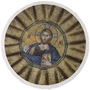 Christ Pantocrator Surrounded By The Prophets Of The Old Testament 1 Round Beach Towel