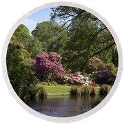 Christchurch Botanic Gardens New Zealand Round Beach Towel
