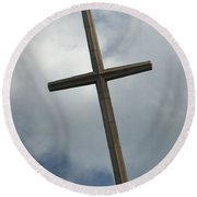 Christian Cross Round Beach Towel