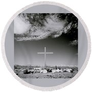 Christian Grave Round Beach Towel