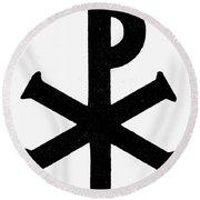 Christian Monogram Round Beach Towel