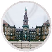 Christiansborg Slot Round Beach Towel