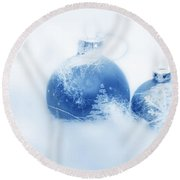 Christmas Balls Decoration Round Beach Towel