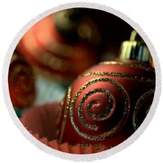 Christmas Bauble Cupcakes Round Beach Towel