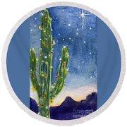 Christmas Cactus Round Beach Towel
