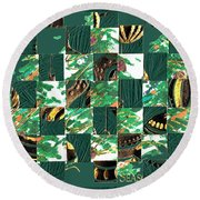 Christmas Card Collage Round Beach Towel