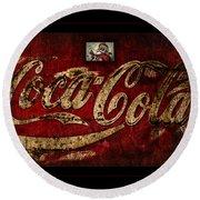 Christmas Coca Cola 1881 Santa Round Beach Towel