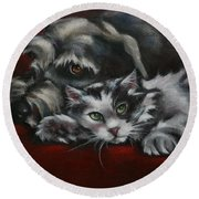 Christmas Companions Round Beach Towel by Cynthia House