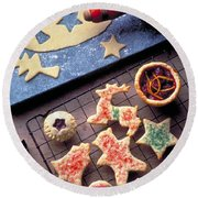 Christmas Cookies Round Beach Towel