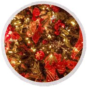Christmas Dazzle Round Beach Towel
