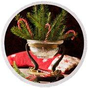 Christmas Decoration Round Beach Towel