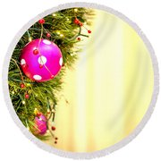 Christmas Decoration Round Beach Towel