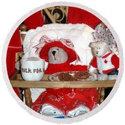 Christmas Delights Round Beach Towel