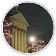 Christmas In Uptown Lexington 1 Round Beach Towel