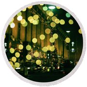 Christmas Lights In Oxford Streeet Round Beach Towel