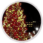 Christmas On Public Square Three Round Beach Towel
