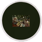 Christmas Packages Round Beach Towel