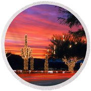 Christmas, Phoenix, Arizona, Usa Round Beach Towel