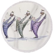 Christmas Pudding Round Beach Towel