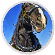 Christmas Shire 2 Round Beach Towel