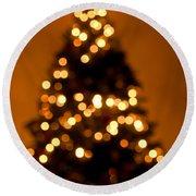 Christmas Tree Bokeh Round Beach Towel