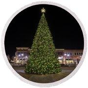 Christmas Tree Hampton City Center  Round Beach Towel