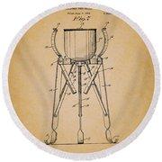 Christmas Tree Holder Patent 1927 Round Beach Towel