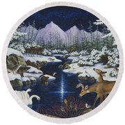 Christmas Wonder Round Beach Towel