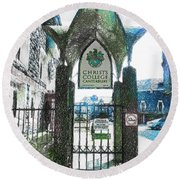 Christ's College Canterbury Round Beach Towel
