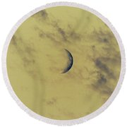 Chromatic Moon Round Beach Towel