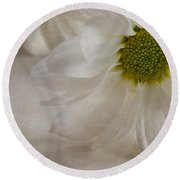 Chrysanthemum Textures Round Beach Towel