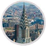 Chrysler Building - Nyc Round Beach Towel