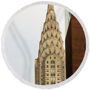Chrysler Building Round Beach Towel