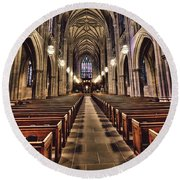 Church Aisle Round Beach Towel