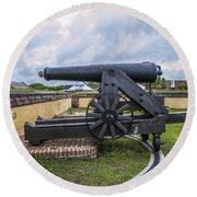 Church At Fort Moultrie Round Beach Towel