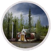 Church Beaver Creek Yukon Round Beach Towel