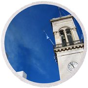 Church Belfry Round Beach Towel
