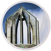 Church - Tower Bell - Luther Fine Art Round Beach Towel