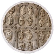 Church Frieze Round Beach Towel