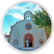 Church In San Carlos-sonora Round Beach Towel