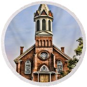 Church In Sprague Washington 2 Round Beach Towel