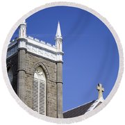 Church In Tacoma Washington 4 Round Beach Towel