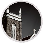 Church In Tacoma Washington 5 Round Beach Towel