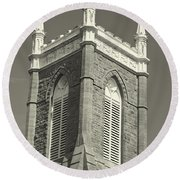 Church In Tacoma Washington Round Beach Towel