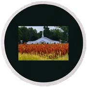 Church In The Fields Round Beach Towel